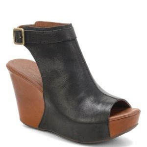 Korkease Berit Black / Avana Wedge Sandals